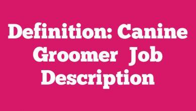 Definition: Canine Groomer  Job Description
