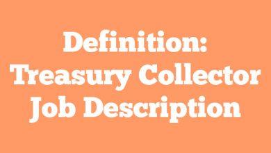 Definition: Treasury Collector  Job Description