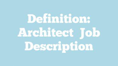 Definition: Architect  Job Description